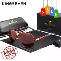 KINGSEVEN Brand Design Polarized Sunglasses Men Driving Square Frame Sun Glasses