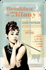 Nostalgic Art Audrey Hepburn Breakfast at Tiffany Filmplakat Blechschild 20x30 #