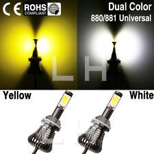 2X Car H27 881 880 899 LED Fog Driving DRL Bulb Light White Yellow US 12V 24V
