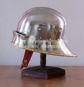 Medieval 14 Gauge Steel German Sallet Helmet Armor Helm