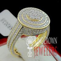 925 Silver Ladies 14K Yellow Gold Finish Lab Diamond Bridal Engagement Ring Band