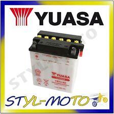 YB14L-A2 BATTERIA ORIGINALE YUASA CON ACIDO CAGIVA 600 W 16 1995