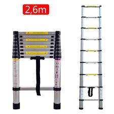 Alu Teleskopleiter 2,6m Stehleiter Anlegeleiter Mehrzweckleiter Ladder Neu