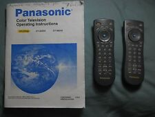 Panasonic color TV user's guide ( CT-27D32 ) from 2002 plus 2 remotes