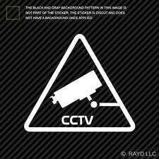 (2x) Video Surveillance CCTV Sticker Die Cut Decal warning sign closed circuit