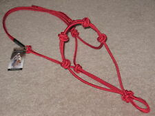 4 Knot Horse Training Halter $19.95 Fits Parelli, Thomey, Clinton ~ Red