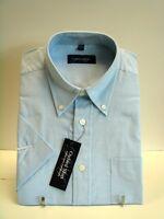 Mens Oxford Shirt, Short Sleeve, Cotton Blend, Summer shirts, Work Shirt
