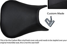 black stitch 99-02 CUSTOM FITS YAMAHA 600 YZF R6 CARBON FIBER VINYL SEAT COVER