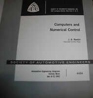Computers & Numerical Control booklet 1962- Society Automotive Engineers