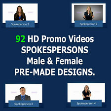 92 SPOKESPERSON HD PROMO VIDEOS - white label videos with commercial rights