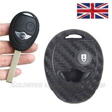 Carbon Fiber Key Cover for Mini Cooper 2 Button Key Case Remote Fob BMW s17cf