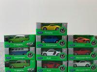 10 Stück Welly Autos Set Porsche Ferrari Aston Bentley Opel 1:60 Modelle OVP
