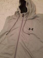 NWT Under Armour Fleece® Sleeveless Hoodie Heather Steel Gray Full Zip Large