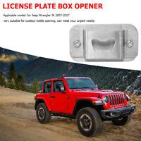 License Plate Delete Bottle Opener for Jeep Wrangler JK 07-17 Car Accessories