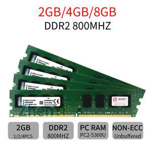 Original Kingston 8GB 4GB 2G Desktop Memory DDR2 800Mhz PC2-6400 240pin DIMM RAM