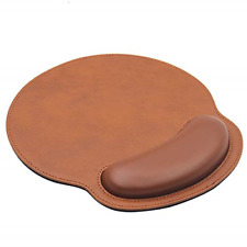 Ergonomic PU Leather Mouse Pad with Wrist Support Comfort Memory Foam Surface