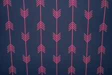 Navy Chevron Print #826 Nylon Lycra Spandex 4 Way Stretch Swimwear Fabric BTY