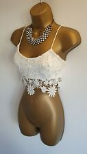 Parisian collection 3FOR2 OFFER White Lace Floral Cropped top Bralet Sexy Cami 8