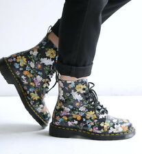 NEW Womens DR DOC MARTENS 1460 PASCAL DARCY FLORAL 8-EYE LEATHER BOOTS US 8/UK 6