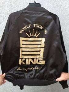Rare 1989 BB KING WORLD TOUR Black Satin Jacket L