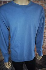 New Faherty Brand Long Sleeve Notch Crew Bay Blue Mens Shirt Sz 2Xl