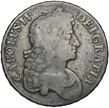 More details for 1673 crown - charles ii british silver coin