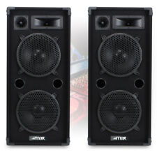"2x EKHO Max210 Dual 10"" Inch DJ PA Party Disco Sound System Speakers 1800w"
