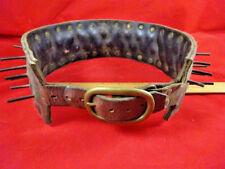 Large Breed Spiked Leather Dog Collar 1900 Vintage