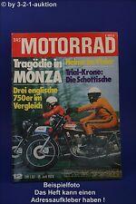 Das Motorrad 12/73 Triumph Trident Bonneville Tiger