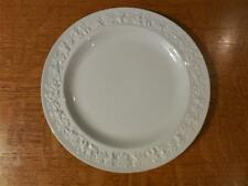 "Wedgwood Embossed Queensware cream/cream smooth edge 8 1/4"" salad plate 1950's"