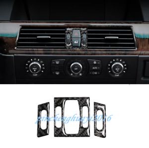 Real Carbon Fiber Front Air Vent Outlet Cover Trim For BMW 5 Series E60 2005-10