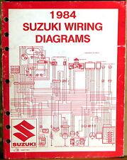 "SUZUKI SERVICE MANUAL 1984 WIRING DIAGRAMS ""E"" Model Motorcycles"