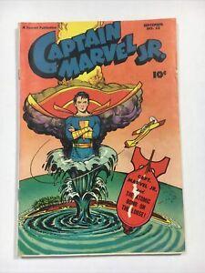 Captain Marvel Jr. #53 fine+ 1947 Fawcett comic Atom bomb