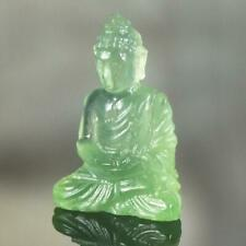 Sculpture of the Buddha Natural Green Chalcedony Gemstone Carving 3.90 cts