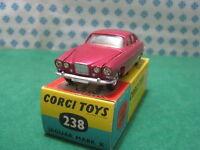 Vintage  -   JAGUAR  MARK  X    - 1/43  Corgi Toys  238  - Mint in Box