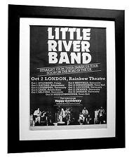 LITTLE RIVER BAND+Cocktail+POSTER+AD+FRAMED+RARE+ORIGINAL 1977+FAST GLOBAL SHIP