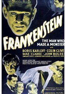 Poster The Wolf Man Vintage Horror Frankenstein Big #2