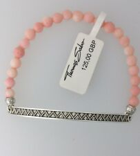 GENUINE THOMAS SABO, BRAND NEW Love Bridge Bamboo Coral Bracelet 17.5cm RRP £125
