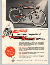 1950 PAPER AD Murray Of Ohio Fleet Line Spring Bicycle Pedal Cars Coaster Wagon