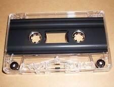 Leerkassette Chrom schwarz transparent zB Musik Hörspiele 2 x 5 min Minuten Neu