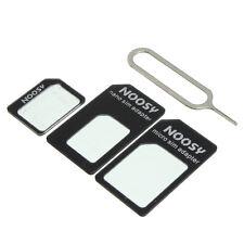 NOOSY SIM nero Adattatore Convertitore 4in1 PER iPhone 4 / 4S / 5 / 5S / 6/6 Plus / 6S / 6S PLUS