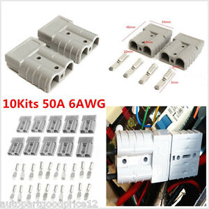 5Pair 10Pcs Battery Quick Connector 50A 6AWG Power Plug Connect Disconnect Winch