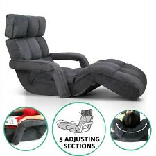 Adjustable Floor Armchair Lounge Chair With Arm Sofa Chaise Modern Fabric Gaming