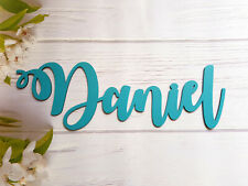 Wooden Name Sign Wall Plaque Personalised Gift Door Home Room Decor Hand Painted