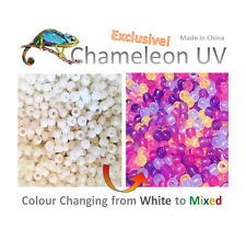 100 Pieces Chameleon UV Multi Colour Changing UV Reactive Plastic Pony Beads,