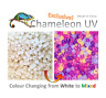 100 Pieces Chameleon UV Multi Colour Changing UV Reactive Plastic Pony Beads,