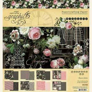"""FEBRUARY PRE-ORDER - Graphic 45 - Elegance 8""""X8"""" Double-Sided Paper Pad - 24 She"""