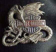 Vintage (Licensed) HARLEY DAVIDSON DRAGON (1983) SOLID BRASS BELT BUCKLE.