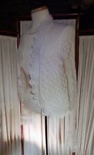 LOVELY Off White NWT Ann Taylor LOFT Crocheted Cardigan Sweater sz L