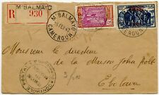 CAMEROON REGISTERED MBALMAYO CENSORED INTERNAL + ELEPHANTS SURCHARGE 1942